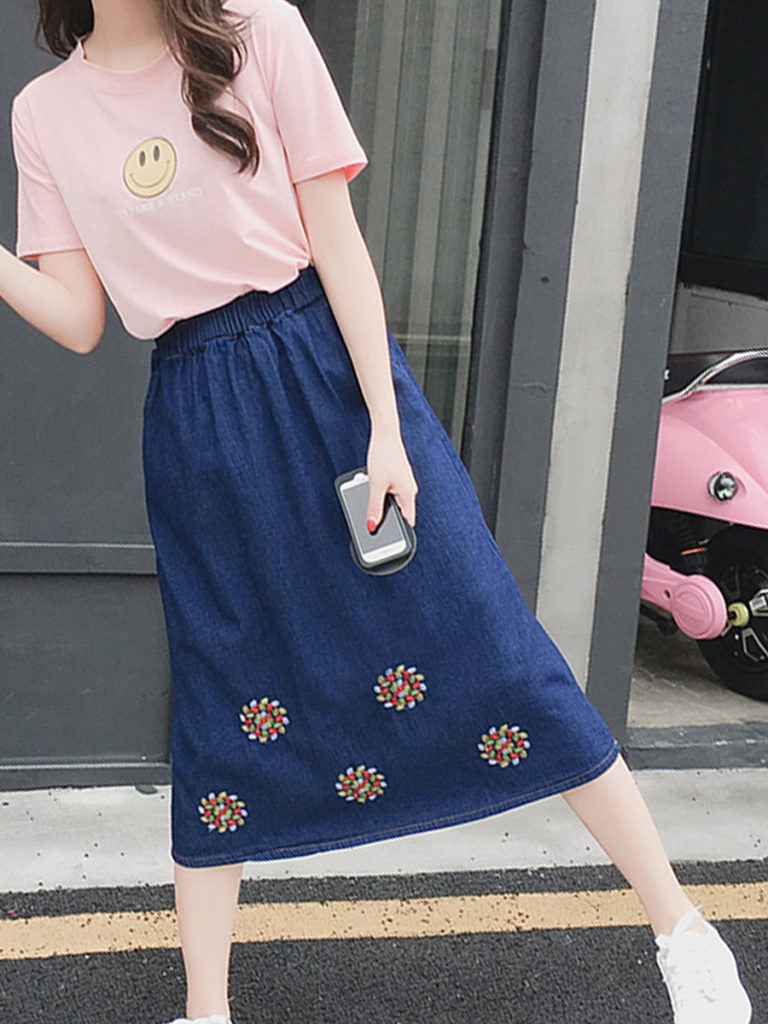 Maxi Denim Skirts