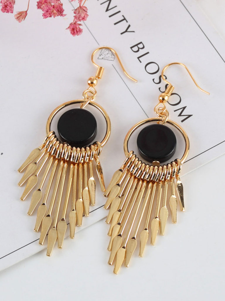 Chic Mental Tassel Earrings