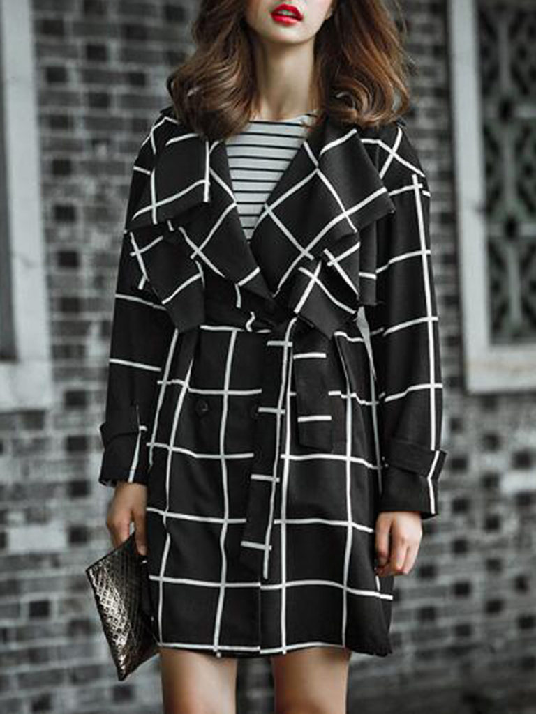Long Sleeve Trench Coats