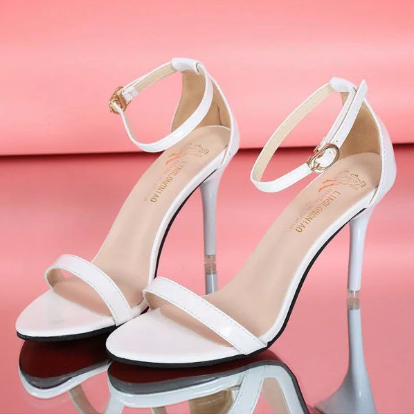 Plain Stiletto High Heeled PU Casual Pumps