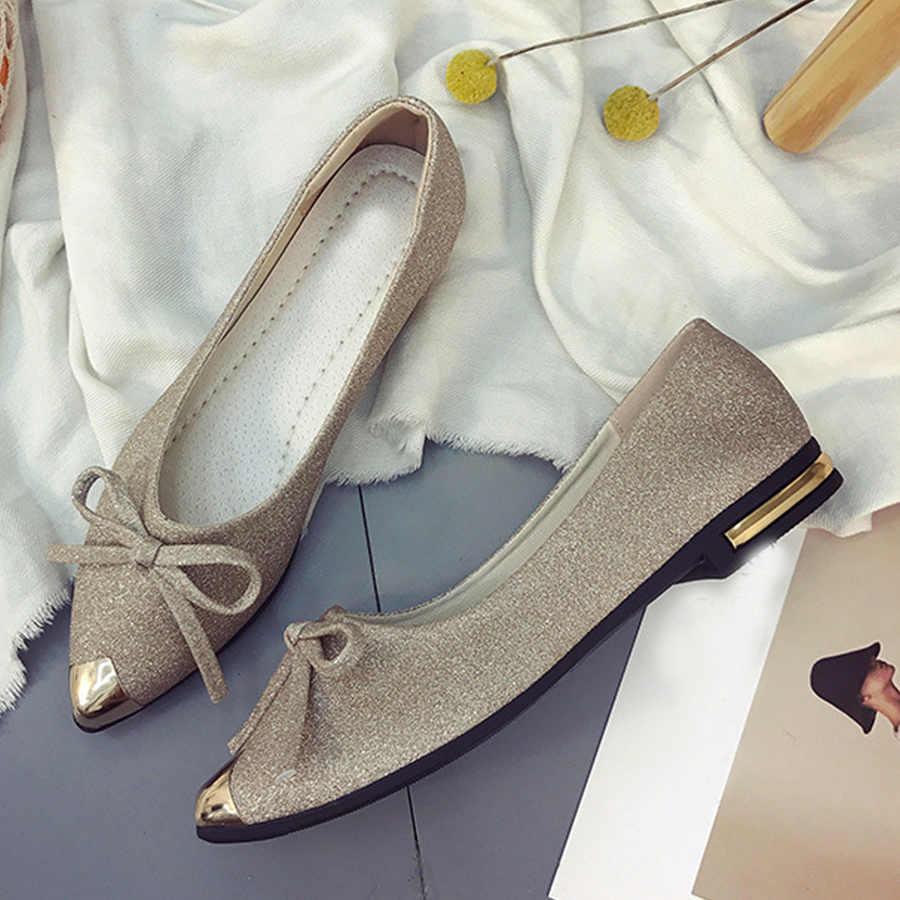 Plain Chunky Low Heeled Point Toe Date Flat & Loafers