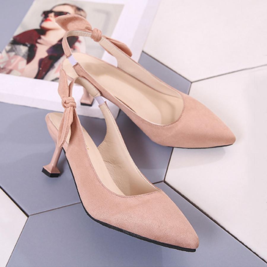 77b318f4f9b4 Plain Stiletto High Heeled Velvet Point Toe Date Office Stiletto Heels