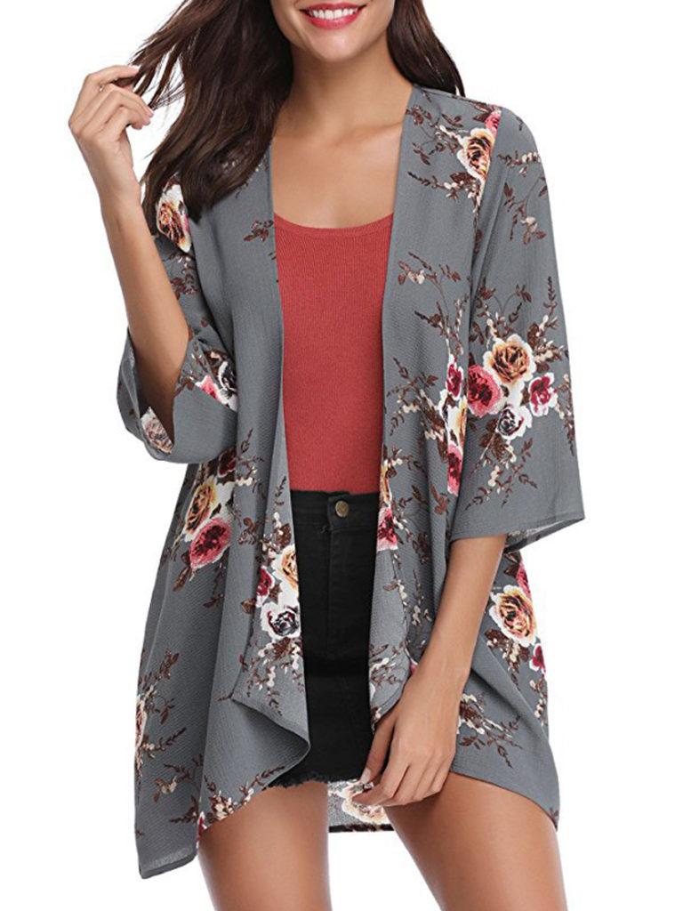 Floral Printed Long Sleeve Cardigans