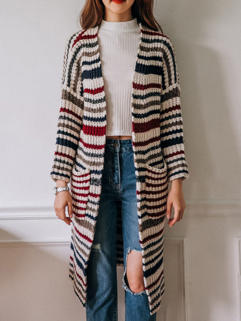 Stripes Knit Cardigans