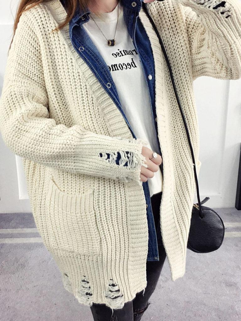 Plain Knit Cardigans
