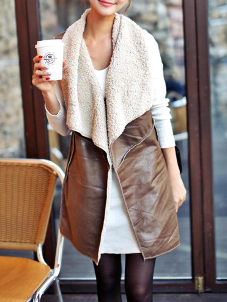 Lapel Plain Waistcoat