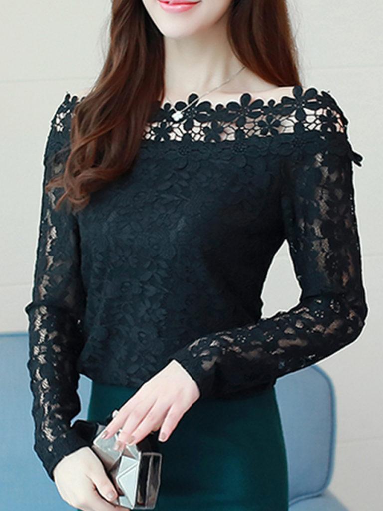 Patchwork Lace Blouses