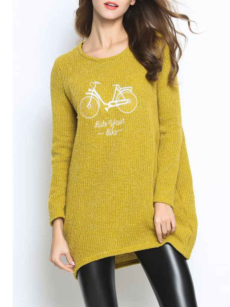 Round Neck Loose Fitting Knit Pullover