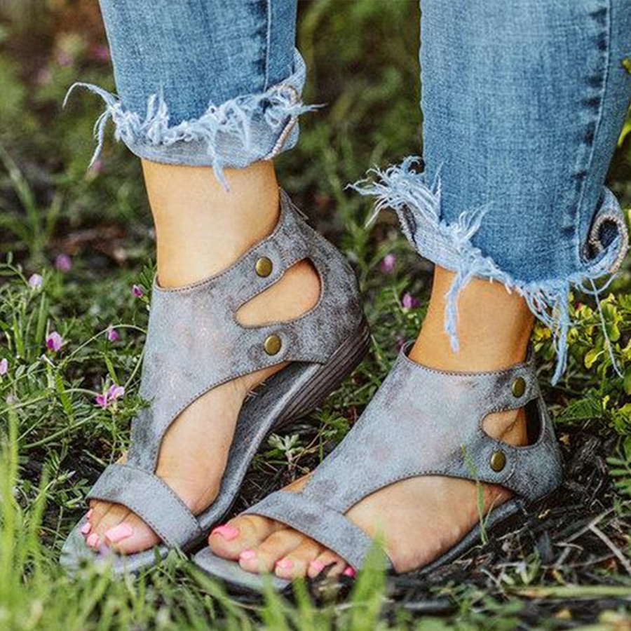 Plain Peep Toe Date Travel Sandals