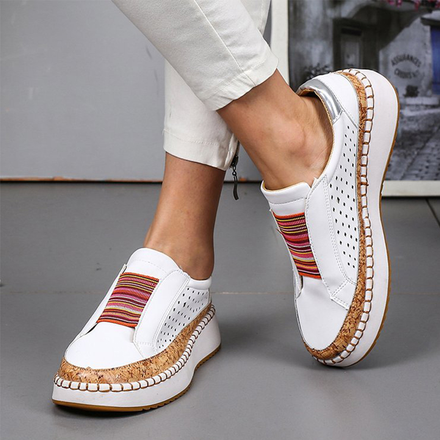 Plain Flat Peep Toe Casual Travel Flat & Loafers