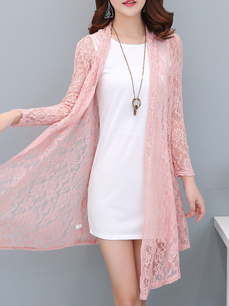 Patchwork Elegant Lace Long Sleeve Cardigan