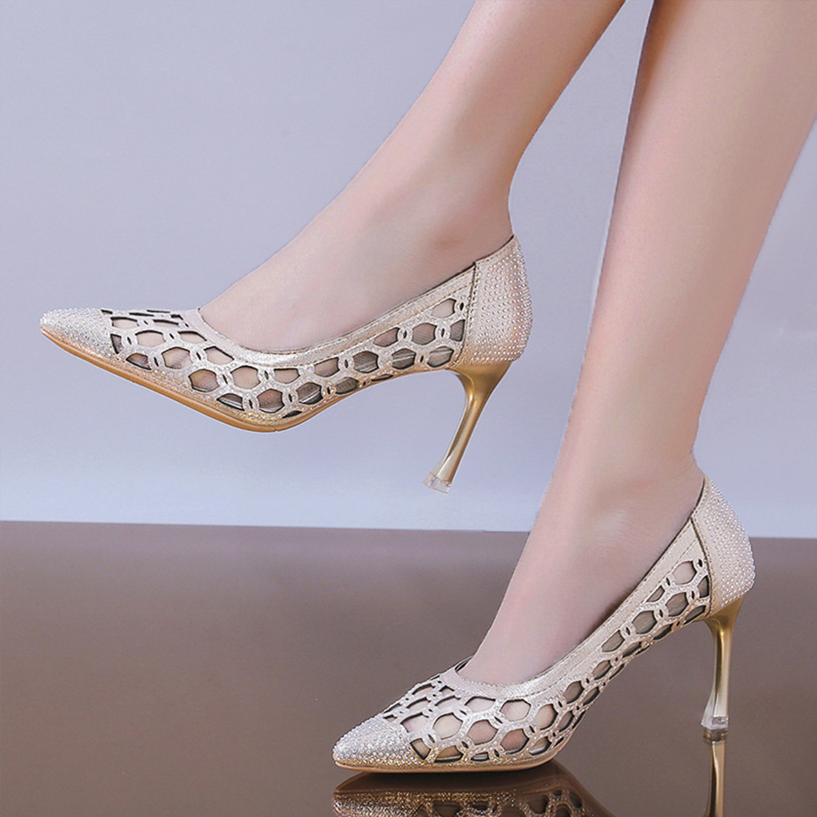 Stiletto High Heeled Point Toe Date Pumps