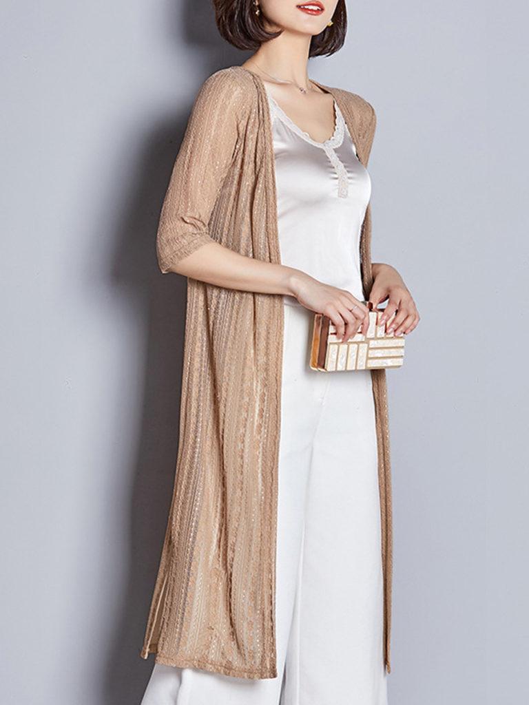 Patchwork Elegant Lace Half Sleeve Cardigan