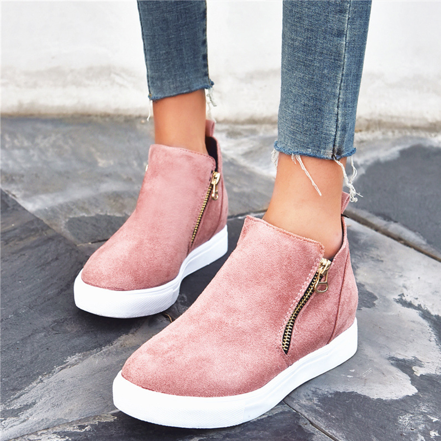Plain Round Toe Sneakers
