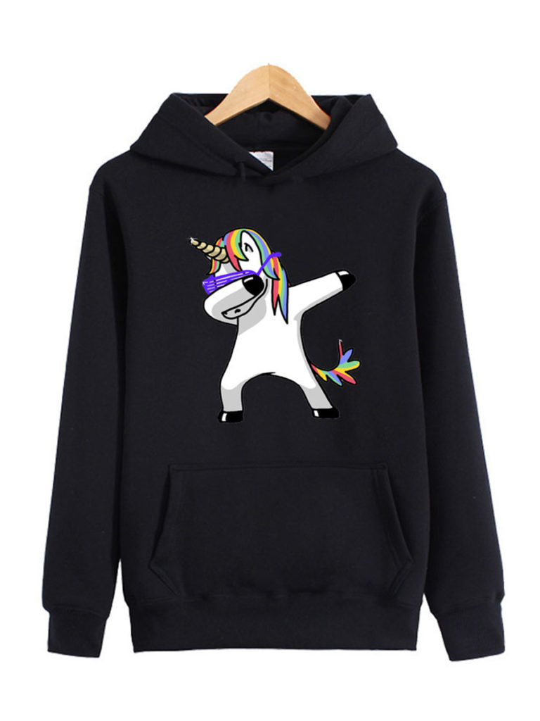 Casual Cartoon Shoulder Sleeve Long Sleeve Hoodie