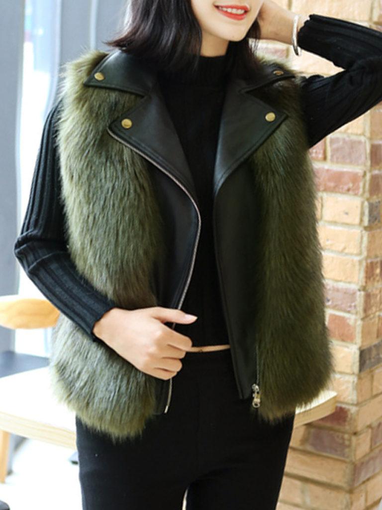 Fashion stitching lapels Waistcoat
