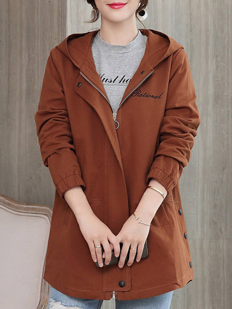 Loose-fit hooded jacket