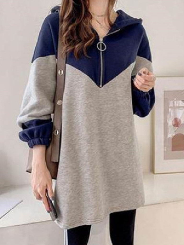 Loose-fit hooded sweatshirt