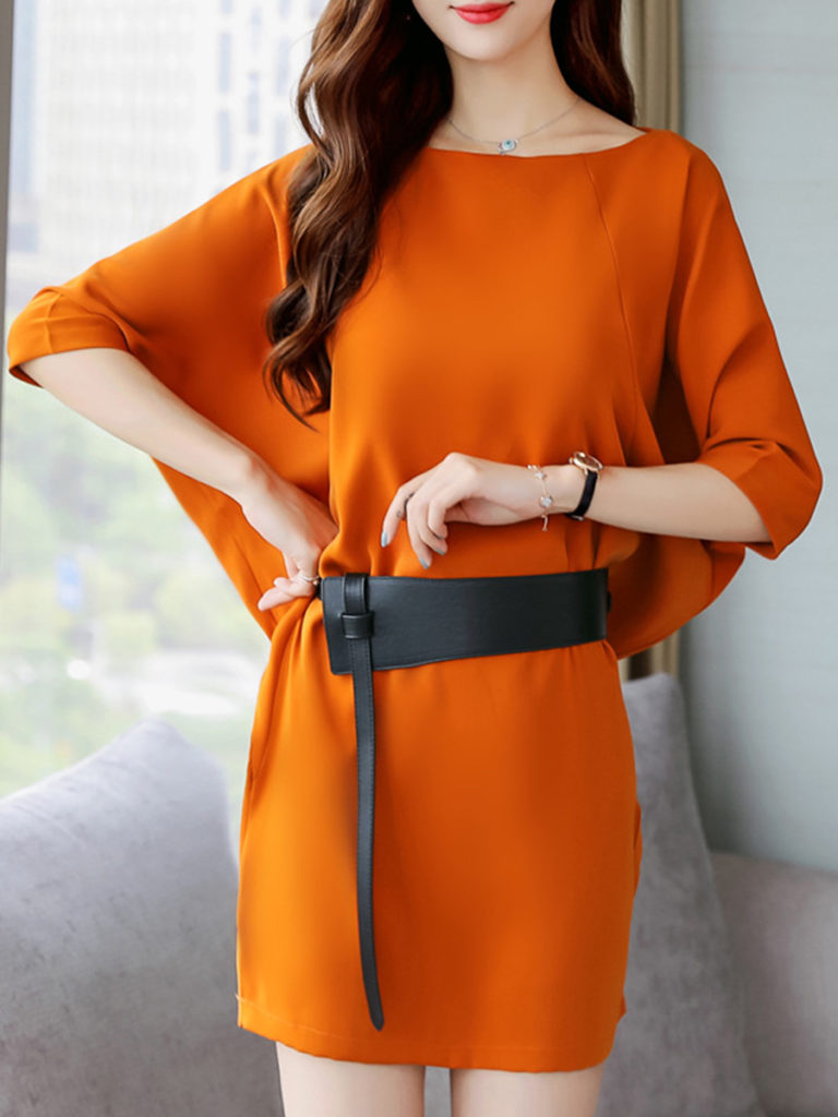 Bat Sleeve Loose Bodycon Dress