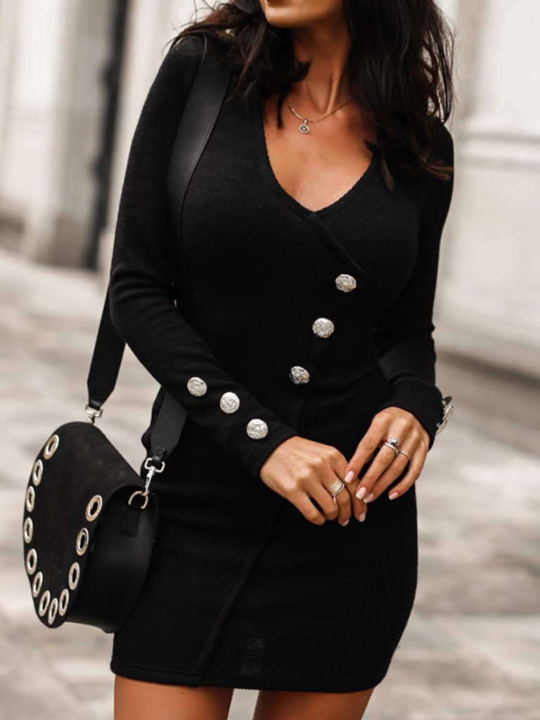 Women Autumn and Winter Bodycon Dress
